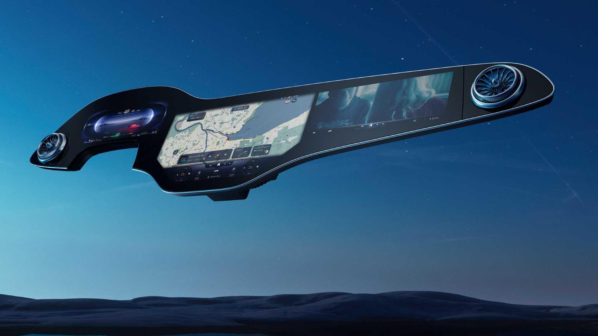 Así es la 'hiperpantalla' MBUX de 141 cm que veremos en el Mercedes EQS