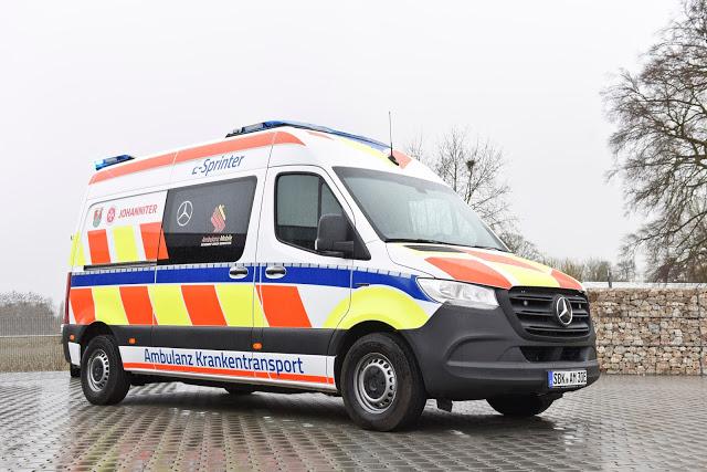 Así luce esta ambulancia eléctrica de Mercedes-Benz Vans con 120 kilómetros de autonomía